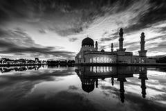 Sunrise at Kota Kinabalu mosque, famous landmark in Kota Kinabal. U, Sabah Borneo, Malaysia Royalty Free Stock Photos