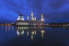 Sunrise at Kota Kinabalu mosque, famous landmark in Kota Kinabal. U, Sabah Borneo, Malaysia Stock Photos