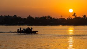 Sunrise at Krabi stock image