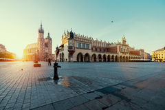 Sunrise in Krakow. Poland Royalty Free Stock Images