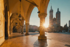 Sunrise in Krakow. Poland Royalty Free Stock Photography