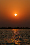 Sunrise at Kuakata, Bangladesh Royalty Free Stock Image
