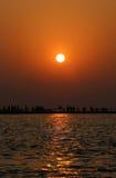 Sunrise at Kuakata, Bangladesh Royalty Free Stock Image
