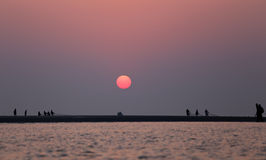 Sunrise at Kuakata, Bangladesh Stock Photography