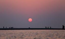 Sunrise at Kuakata, Bangladesh Stock Photography