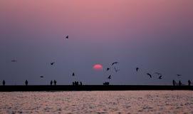 Sunrise at Kuakata, Bangladesh Stock Photo