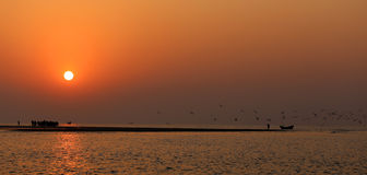 Sunrise at Kuakata, Bangladesh Royalty Free Stock Images