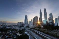 Sunrise in Kuala Lumpur city Stock Photography