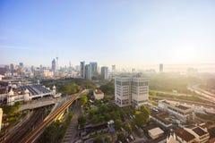 Sunrise at Kuala Lumpur city skyline Stock Images