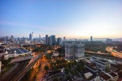 Sunrise at Kuala Lumpur city skyline Stock Photos