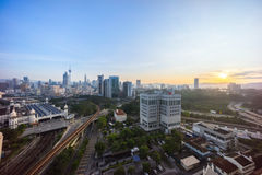 Sunrise at Kuala Lumpur city skyline Royalty Free Stock Photography