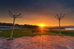 Sunrise in La Galea, Getxo Royalty Free Stock Photos