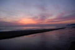 Sunrise of La Gola del Ter in Costa Brava, Spain Stock Photos