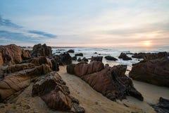 Sunrise on La Pedrera beach Royalty Free Stock Photography