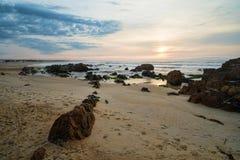 Sunrise on La Pedrera beach Stock Photography