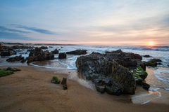 Sunrise on La Pedrera beach Royalty Free Stock Photos