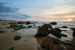 Sunrise on La Pedrera beach Royalty Free Stock Image