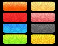 Sunrise labels. Set of colorful sunrise labels or banners Royalty Free Stock Images