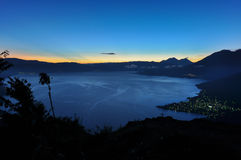 Sunrise at Lago Atitlan, Guatemala Royalty Free Stock Photo