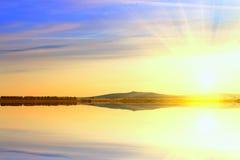 Sunrise Lake Stock Photo