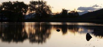 Sunrise on lake Royalty Free Stock Images
