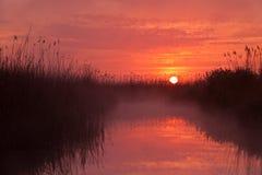 Sunrise lake royalty free stock photography