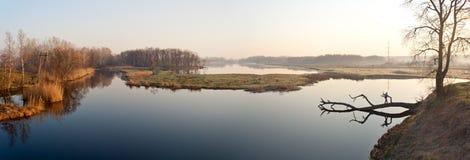 Sunrise in the lake Stock Photos