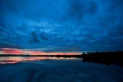Sunrise at lake Stock Image