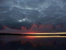 Sunrise in lake Royalty Free Stock Image