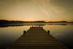 Sunrise on lake Royalty Free Stock Photography
