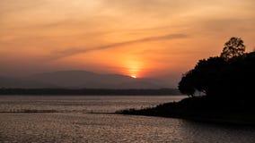 Sunrise at lake. The sunrise at the lake Stock Images