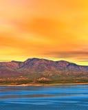 Sunrise Lake Arizona Stock Image