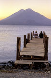 Sunrise- Lake Atitlan, Guatemala Royalty Free Stock Photos