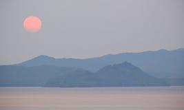 Sunrise on the lake Baikal, Irkutsk region, Russia Stock Photography