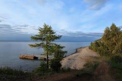 Sunrise on the lake Baikal, Irkutsk region, Russia Royalty Free Stock Images