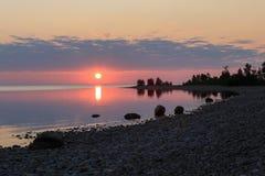 Sunrise on the lake Baikal, Irkutsk region, Russia Stock Image