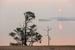 Sunrise on the lake Baikal, Irkutsk region, Russia Stock Images