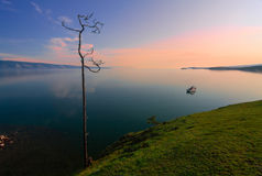 Sunrise on Lake Baikal Stock Photo