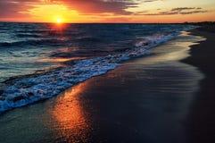 Sunrise on Lake Balkhash, Kazakhstan Stock Photo