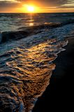 Sunrise on Lake Balkhash, Kazakhstan Royalty Free Stock Images