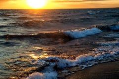 Sunrise on Lake Balkhash, Kazakhstan Royalty Free Stock Photos