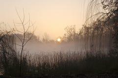 Sunrise on Lake Banyoles, Royalty Free Stock Photo