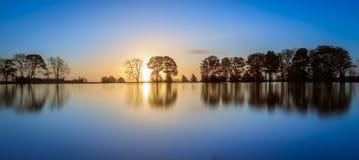 Sunrise Lake. A beautiful sunrise on a lake in Yorkshire Royalty Free Stock Photo