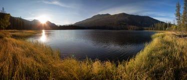 Sunrise on lake in East Kazakhstan Royalty Free Stock Photos