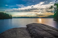 Sunrise on lake jocassee south carolina