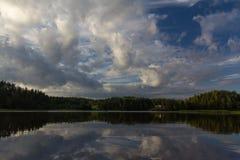Sunrise on lake Ladoga, Karelia, Russia Stock Image