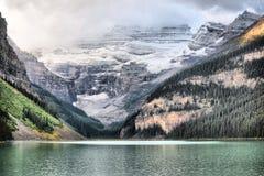 Sunrise at Lake Louise stock image