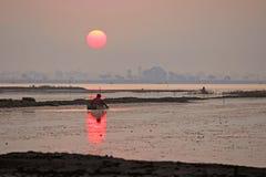 Sunrise at Lake. Morning sunrise shot taken at near indore Royalty Free Stock Photos