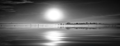 Sunrise Lake Panorama Royalty Free Stock Photo