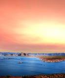 Sunrise Lake Powell Arizona Stock Images